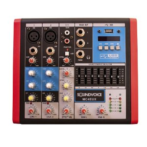 Mesa de Som Compacta Sound Voice MC4 EUX