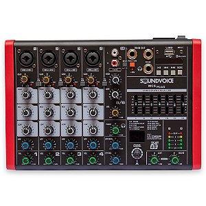 Mesa de Som Compacta SoundVoice MC6 Plus EUX