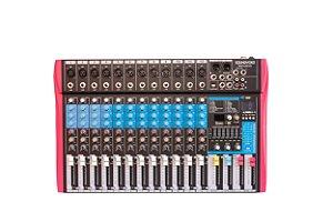 Mesa de Som SoundVoice 12 Canais Efeitos/Equalizador MS122 EUX