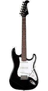 Guitarra Strato Eagle STS-001 Preta