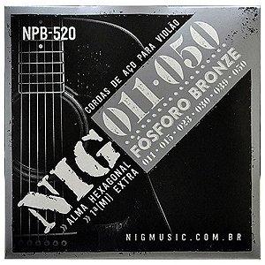 Encordoamento Violao NIG Aco 011 NPB520 Fosforo Bronze