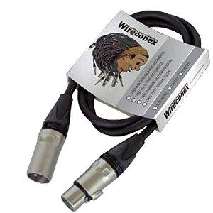 Cabo Microfone Wireconex Balanceado 1 Metro XLR-XLR MPBE01