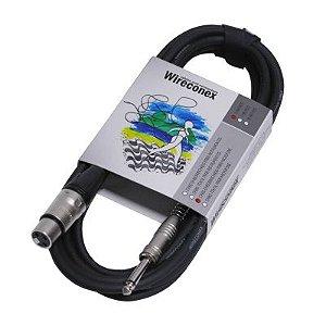 Cabo Microfone Wireconex Desbalanceado 7 Metros P10-XLR MPAE07
