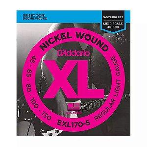 Encordoamento Contrabaixo Daddario 5 Cordas EXL170-5 045
