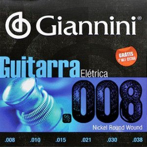 Encordoamento Guitarra Giannini 008 GEEGST8