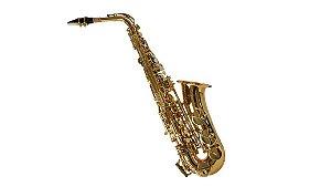 Saxofone Alto Shelter Eb SFT6430 Laqueado Dourado