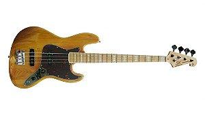 Contrabaixo Jazz Bass SX 4 Cordas SJB75 NA Natural Passivo Com Bag