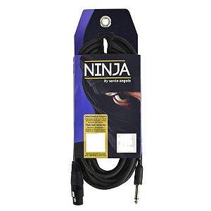 Cabo de Microfone Santo Angelo P10-XLRM Ninja HG 4.57 Metros