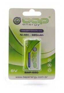 Bateria Recarregável 9V NI-MH 320MAH N1BAP 680