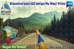 Atualização iGO para GPS ou Cartão - Mapa do Brasil 2020 + Radares