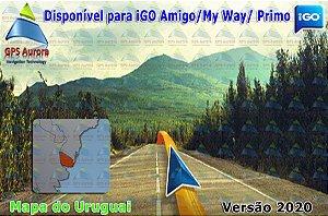 Atualização iGO para GPS ou Cartão - Mapa do Uruguai 2020 + POIS