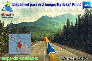 Atualização iGO para GPS ou Cartão - Mapa da Colombia 2020 + POIS