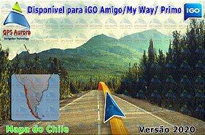Atualização iGO para GPS ou Cartão - Mapa do Chile 2020 + POIS