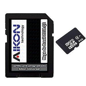 Cartão Gps Aikon 2018-2019-2019 e 2020 para Central Multimídia Universal Micro Sd