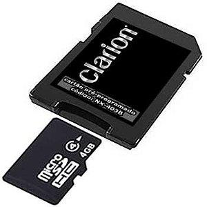 Cartão Clarion para Central Multimídia NX-403B 2019-2020-2021 com atualização Datacard