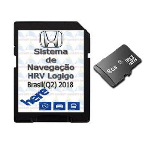 Cartão Gps Logigo 2018-2019-2020 Central Multimídia Honda HRV