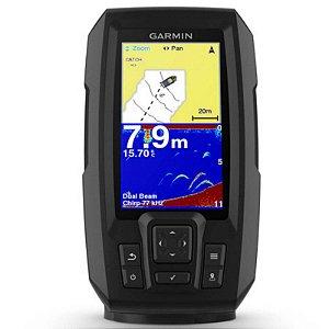 """GPS Sonar Striker 4 Plus com Feixe duplo Garmin com Tela de 4,3"""" Imagens Nítidas"""