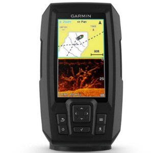 """GPS Sonar Striker 4CV Plus Garmin com Tela de 4,3"""" com Transdutor para Sonar Chirp"""