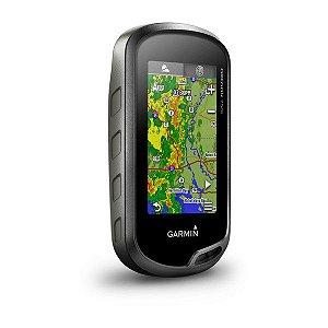 GPS Esportivo Garmin Oregon 750T com case - 7GB Touchscreen com Wi-Fi e BlueChart Costa Leste + Topo SAM 2020