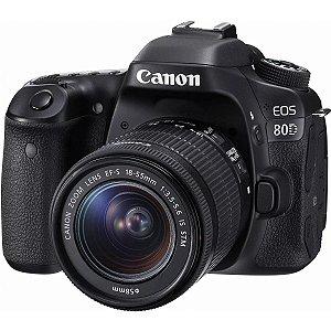 Câmera Digital Canon EOS 80D DSLR 18-55mm 24.2MP Full HD Wi-Fi