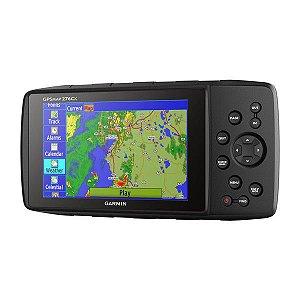 """GPS Garmin GPSMap 276CX Preto tela de 5"""" 8GB + Wi-Fi Ant+ IPX7 com Altímetro e Mapa Bluechart 2020 + América do Sul 2021"""