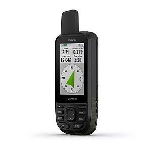 """GPS Garmin GPSMap 66S Preto tela de 3,0"""" 16GB + IPX7"""