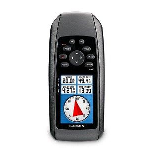 GPS Garmin GPSMap 78S - Preto 1,7GB de Memória USB Brinde Mapa Rodoviário