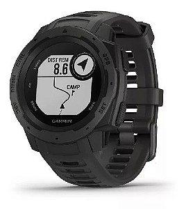 Relógio Garmin Instinct Preto com GPS e Monitor Cardíaco no Pulso