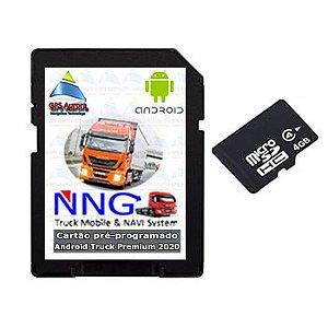 Cartão com Android iGO Truck Mobile Premium Edition 2020 Brasil - Lançamento