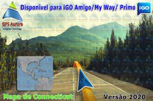 Atualização iGO para GPS ou Cartão - Mapa de Connecticut 2020 + POIS