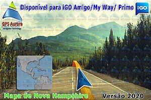 Atualização iGO para GPS ou Cartão - Mapa de Nova Hampshire 2020 + POIS