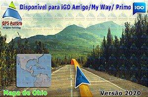 Atualização iGO para GPS ou Cartão - Mapa de Ohio 2020 + POIS
