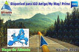 Atualização iGO para GPS ou Cartão - Mapa da Albania 2020 + POIS