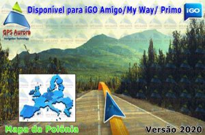 Atualização iGO para GPS ou Cartão - Mapa da Polonia 2020 + POIS