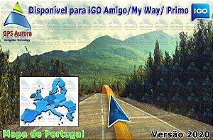 Atualização iGO para GPS ou Cartão - Mapa de Portugal 2020 + POIS