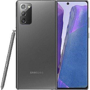 "Smartphone Samsung Galaxy Note 20 Mystic Gray 256GB Dual Chip Android 10.0 Tela 6.7"" 5G Câmera Tripla 12+64+12MP"