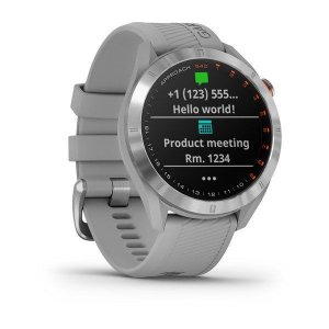 Relógio Garmin Approach S40 Cinza com Ouro e Centenas de Funções para Golf + GPS Integrado