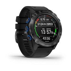 Relógio Garmin Descent MK2i Cinza em Titânio com Vidro em Safira e Comunicação via Satélites - Desenhado para Mergulhadores das Profundezas