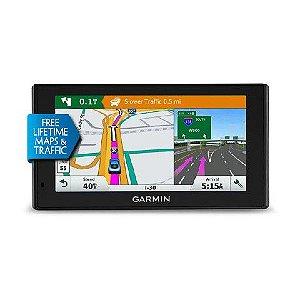 GPS Automotivo Garmin DriveSmart 60 Comando de Voz com Mapa da America do Sul com Radares 2020