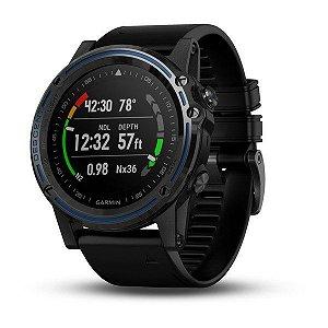 Relógio Garmin Descent MK1 Black Pulseira de Silicone com Vidro em Safira e Comunicação via Satélites - Desenhado para Mergulhadores das Profundezas