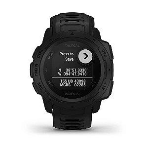 Relógio Garmin Instinct Tactical Preto com GPS e Monitor Cardíaco no Pulso