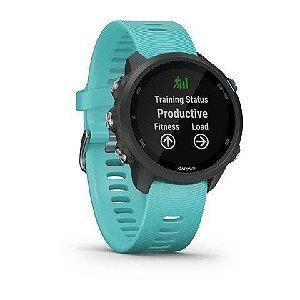 Relógio Garmin Forerunner 245 Music com Monitor Cardíaco+GPS e Bluetooth Preto com pulseira verde