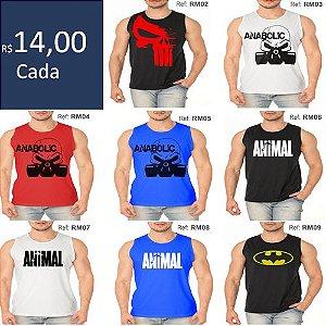 Pacote 30 Regatas Machão Tradicional Camiseta Treino Musculação - Algodão  fio 30.1 0bbb81a2fc1