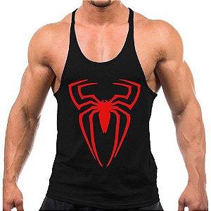 Regata cavada Musculação Fitness Homem Aranha
