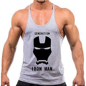 Regata cavada Musculação Fitness Iron Man