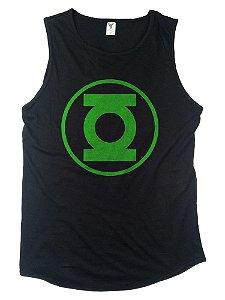 Regata Machão Long preta Lanterna verde
