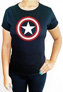 Baby Look feminina Capitão América