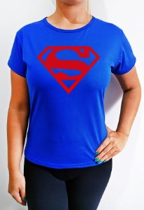 Baby Look feminina azul Superman