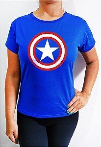 Baby Look feminina Azul  Capitão América