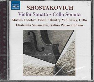 Shostakovich - Cello Sonata 1934 - Violin Sonata 1968 - 2004 - Maxim Fedotov - Violin - Dmitry Yablonsky - Cello - Ekaterina Saranceva - Galina Petrova - Piano